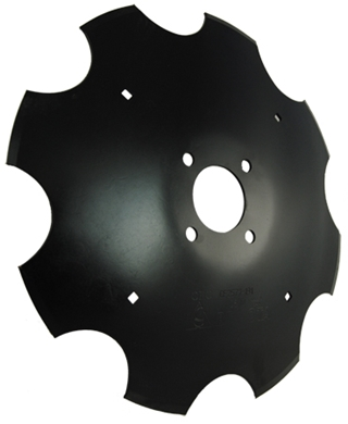"Picture of Marker Repair Blade, 16"", 4 bolt, Notched."