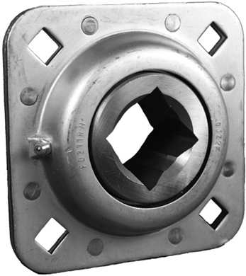 "Picture of Riveted Steel Flange bearing to fit 1.5"" Sq Axle."
