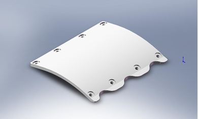 Picture of Poly Skid Plate Repair, IH 1020 Wide Skid Plate.