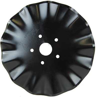 "Picture of 15"" 13 wave blade, 5 bolt holes."