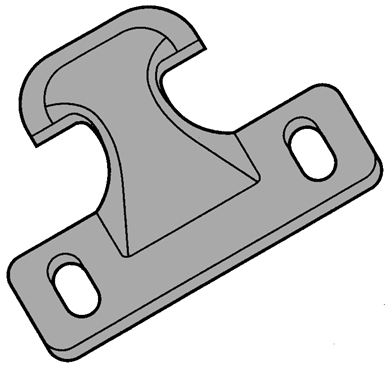 "Picture of Hold Down Clip for 3"" cutting systems, cast."