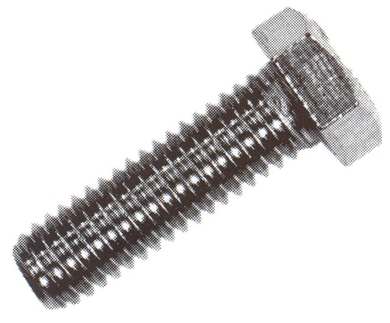 "Picture of 5/16"" x 1 1/2"" Hex head bolts, package of 100."