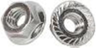 "Picture of 1/2"" Serrated Flange Nuts, Case Hardened. 50 pcs."
