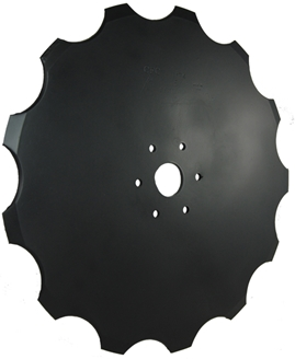 """Picture of 17"""" Notched replacement blade for Kinze 2000"""