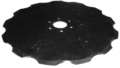 "Picture of 17"" Notched replacement blade for Kinze 3000"