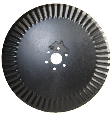 "Picture of 17"" fluted coulter to fit AC Plows."