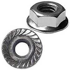 Picture for category Hex Nuts, Serrated flange