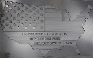 Picture of USA Flag Engraving