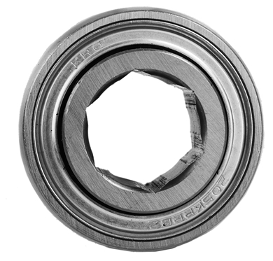 "Picture of Bearing with 7/8"" hex bore."