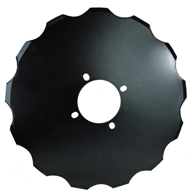 "Picture of 17"" Notched Coulter, 4 bolt."