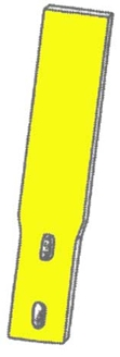 Picture of Yellow Poly Shank Protector for Field Cultivator.