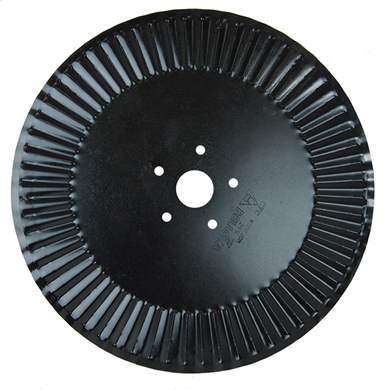 "Picture of 22"" fluted coulter to fit John Deere plows."