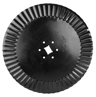 "Picture of 17"" fluted coulter to fit older IH Plows"