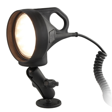 "Picture of LED Spotlight Mount with 2.5"" Round Drill-Down Base"