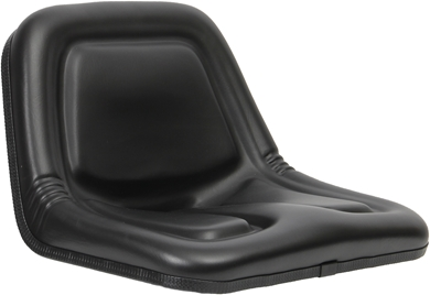 Picture of Deluxe High back seat, black.